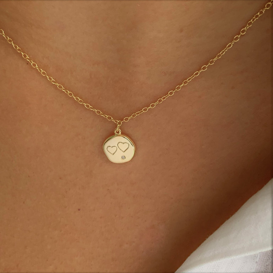 Double Heart Necklace at 58.00