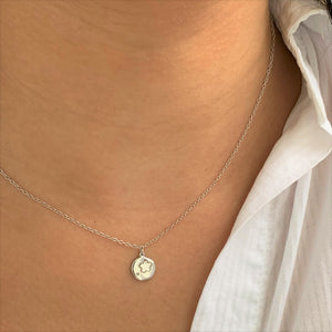 Coin Star Silver Necklace at 58.00