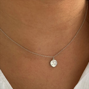 Minimalist Amulet Silver Necklace