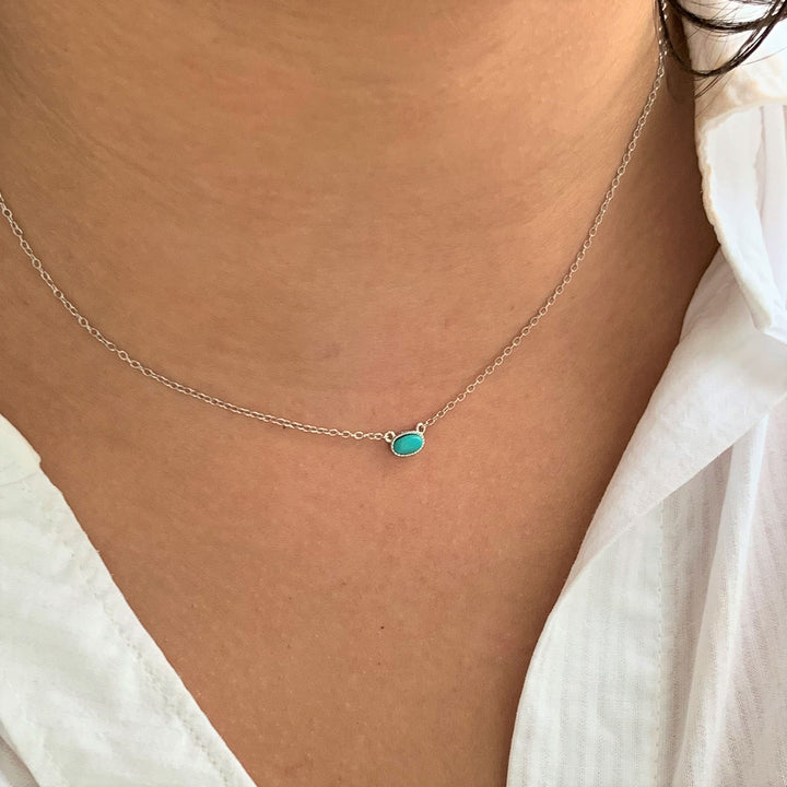 BellaBoho Turquoise Skies Silver Necklace