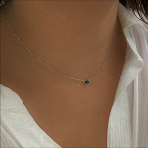 BellaBoho Black Onyx Adventure Silver Necklace