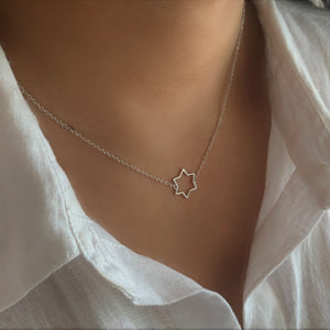 BellaBoho Single Star Silver Necklace