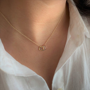 Three Sisters 18K Gold Vermeil Necklace