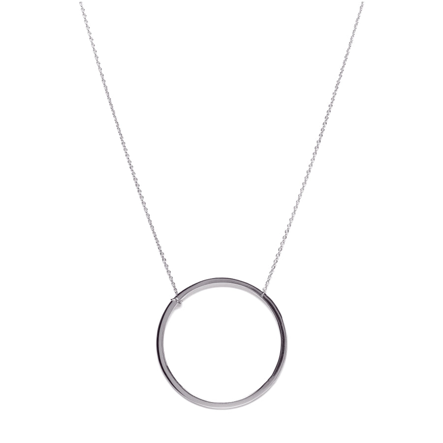 Circle of Karma Silver Necklace