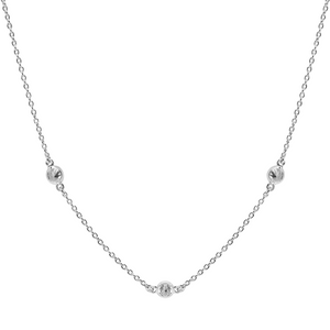 Zirconia Drop Silver Necklace