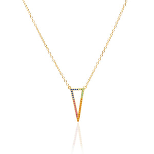 Chevron Rainbow Layering Necklace