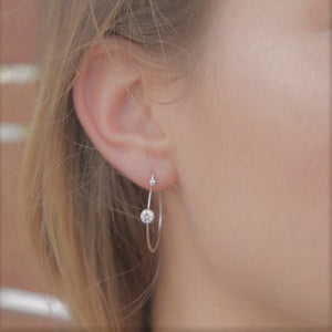 Minimalist Hoop Silver Earrings