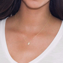 Crescent Moon 18K Gold Vermeil Necklace