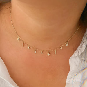 Boho Multi-Charm 18K Gold Vermeil Necklace
