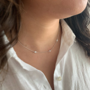 BellaBoho Zirconia Drop Silver Necklace