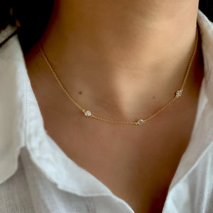 Zirconia Drop 18K Gold Vermeil Necklace