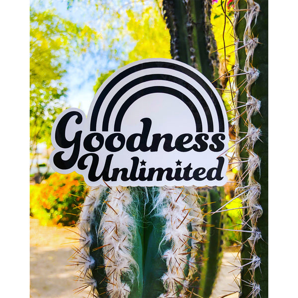 Goodness Unlimited Rainbow Sticker