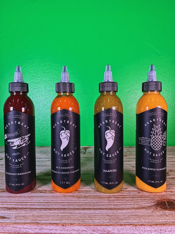 Heartbeat Hot Sauce - 4 Pack - 1 of Each Flavor!