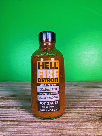 Hell Fire Detroit Habanero Hot Sauce - Hot Ones Season 9! - 4 oz.