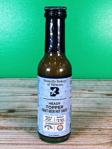 Butterfly Bakery VT Heady Topper Hot Sauce - 5 oz.