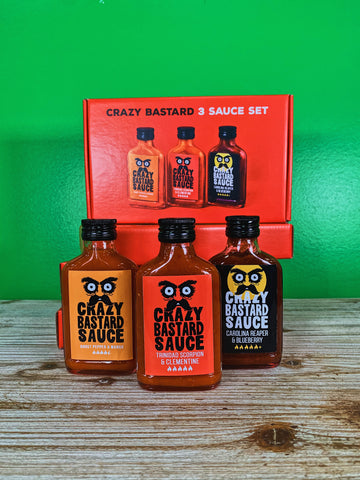 Crazy Bastard 3 Sauce Set (Hottest)