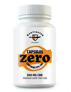 Warfighter - 300mg CBD – Zero THC Hemp Capsules