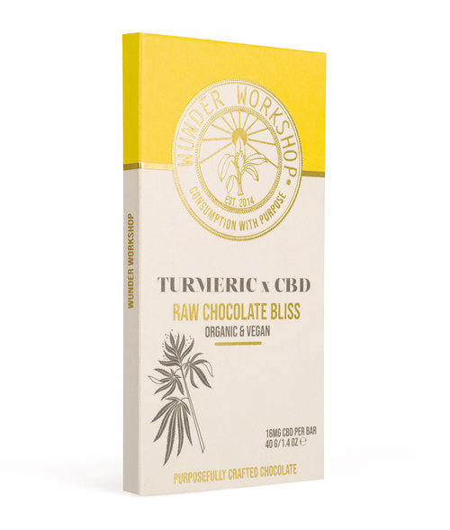 Wunder Workshop Chocolate Bliss Bar - Turmeric X CBD