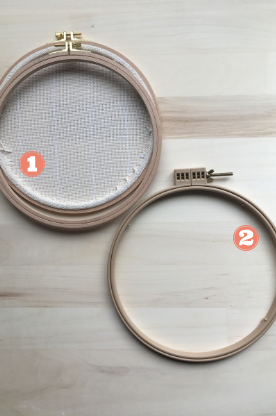 Punch needle frames wood and plastic embroidery hoops