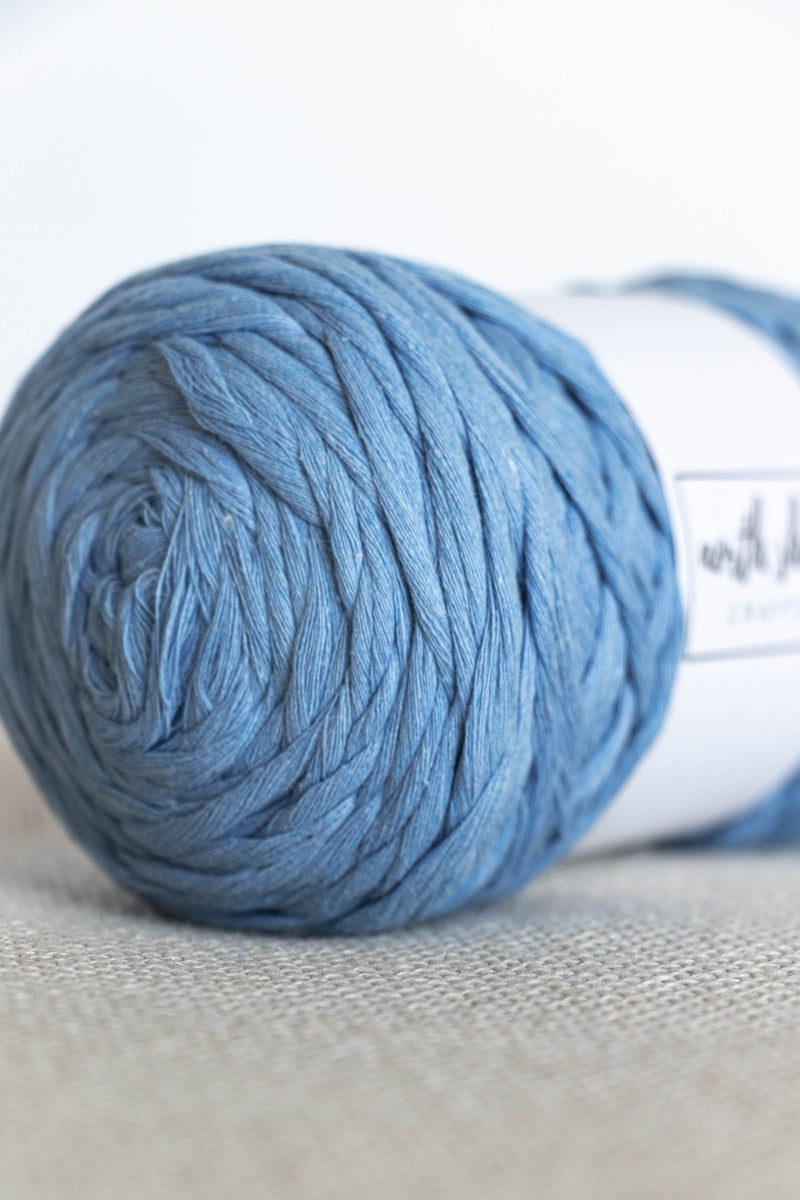 Blue cotton yarn