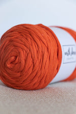 Bright Orange cotton chunky yarn
