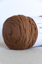 Brown cotton yarn