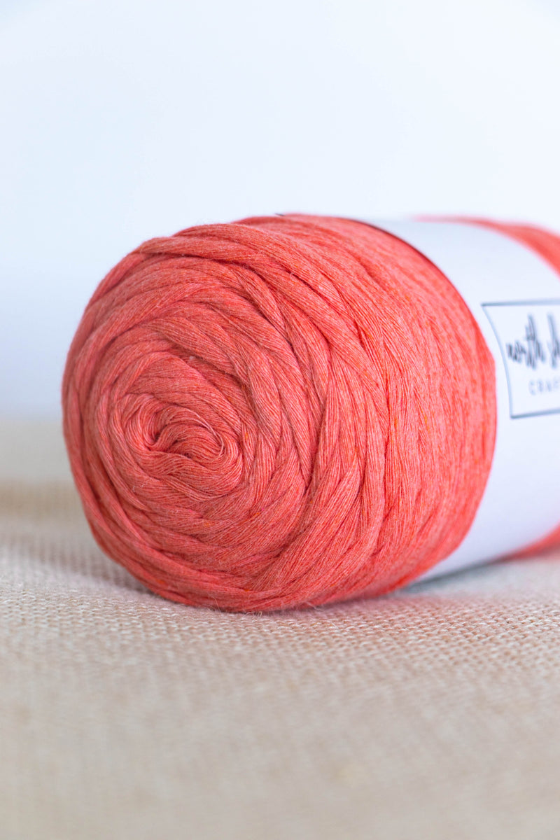 Deep pink cotton yarn
