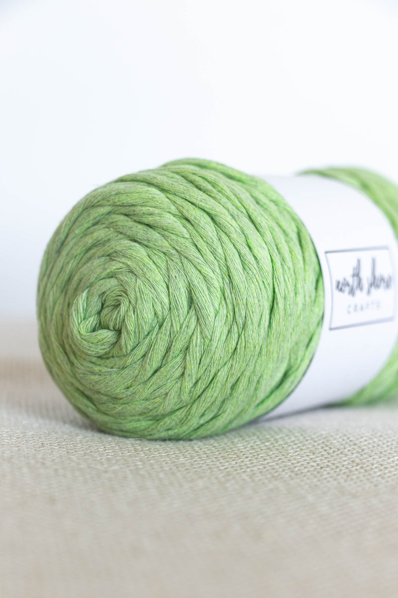 Light green cotton yarn