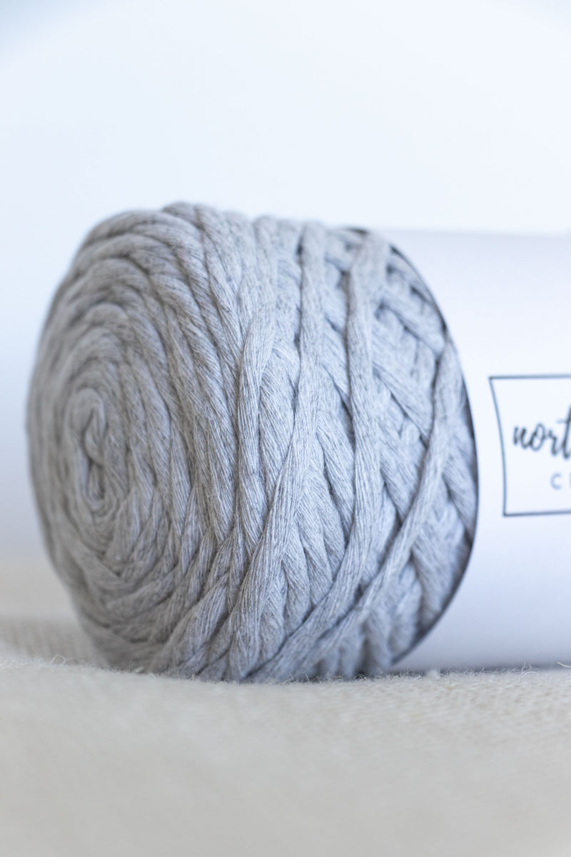 Light grey cotton yarn