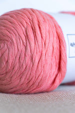 Pink cotton yarn