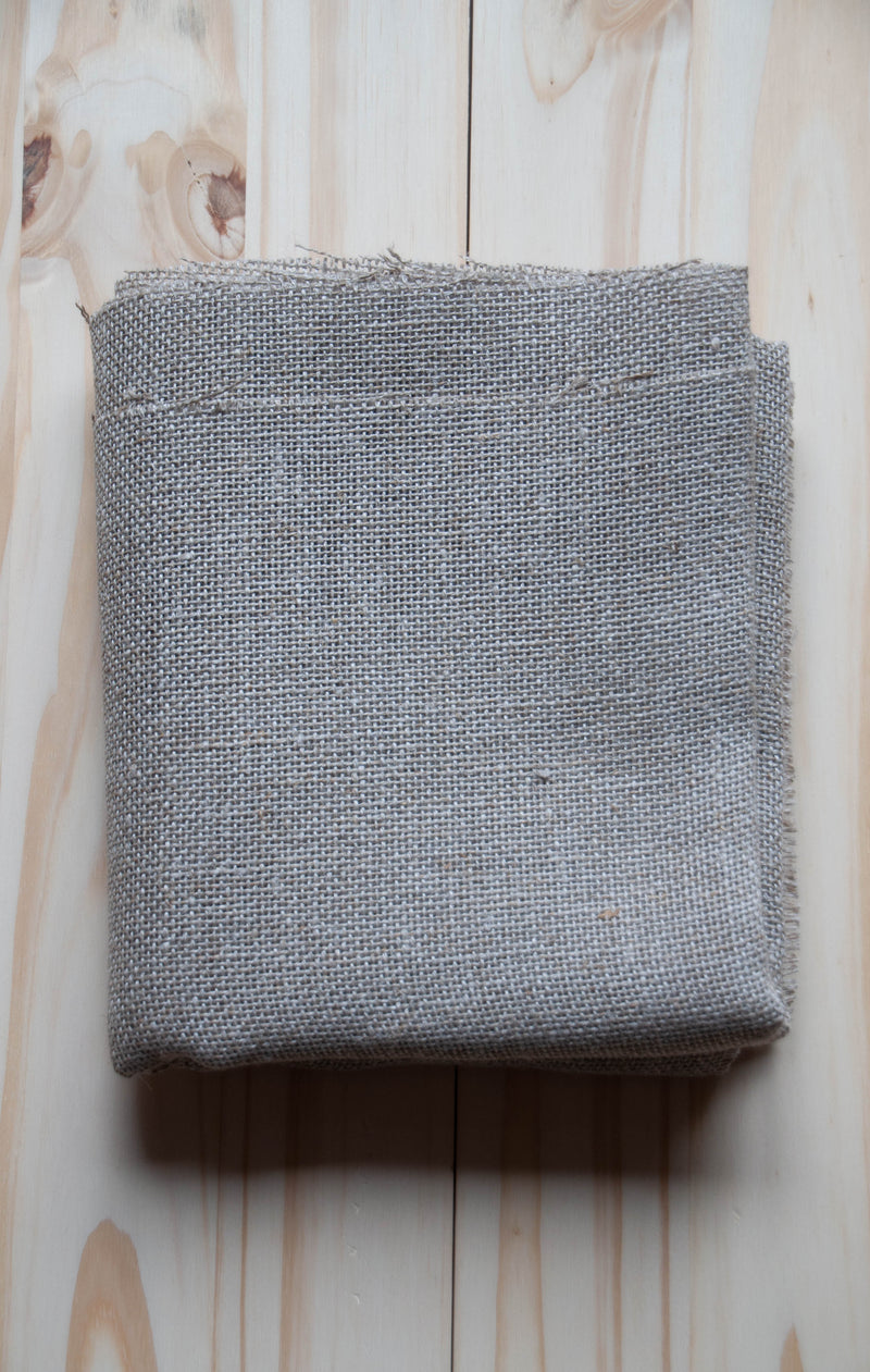 Primitive linen unbleached punch needle foundation fabric 1 yard folded