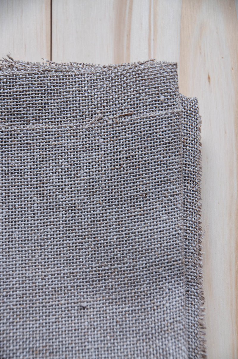 Primitive linen unbleached punch needle foundation fabric