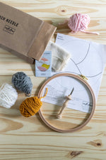 Punch needle kit contents trendy neutrals