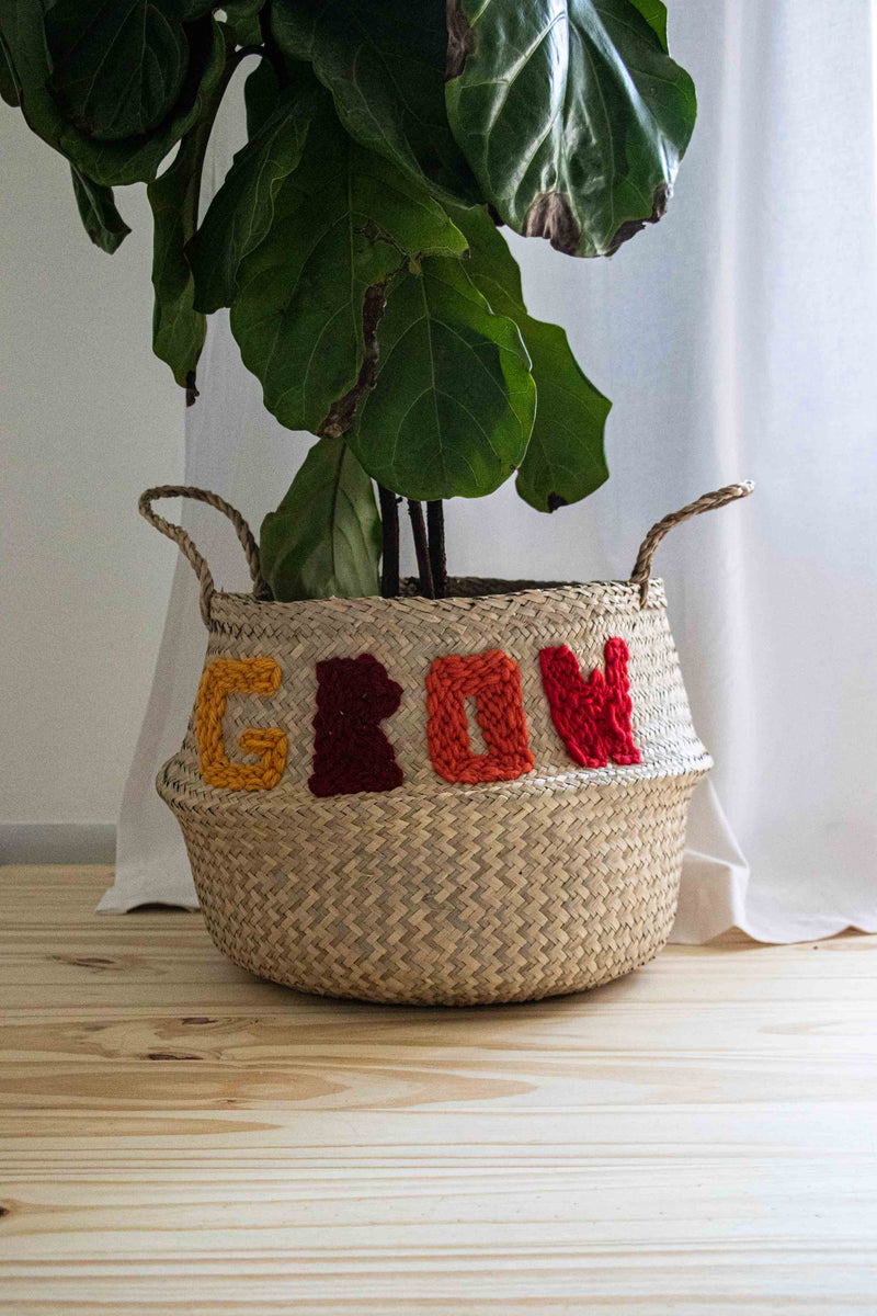 Punch needle basket planter