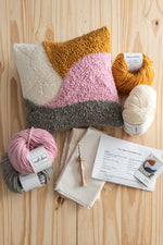 Punch needle pillow kit all supplies