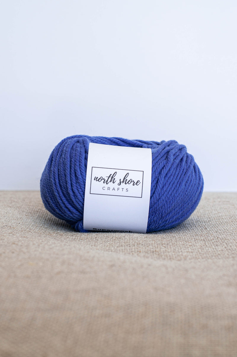 Superwash Wool Bulky Yarn Blue