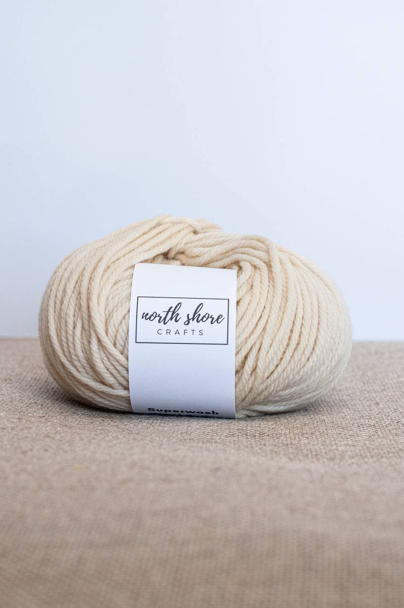 Superwash Wool Bulky Yarn Cream