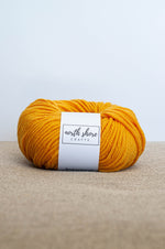 Superwash Wool Bulky Yarn Golden Yellow