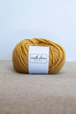 Superwash Wool Bulky Yarn Gold
