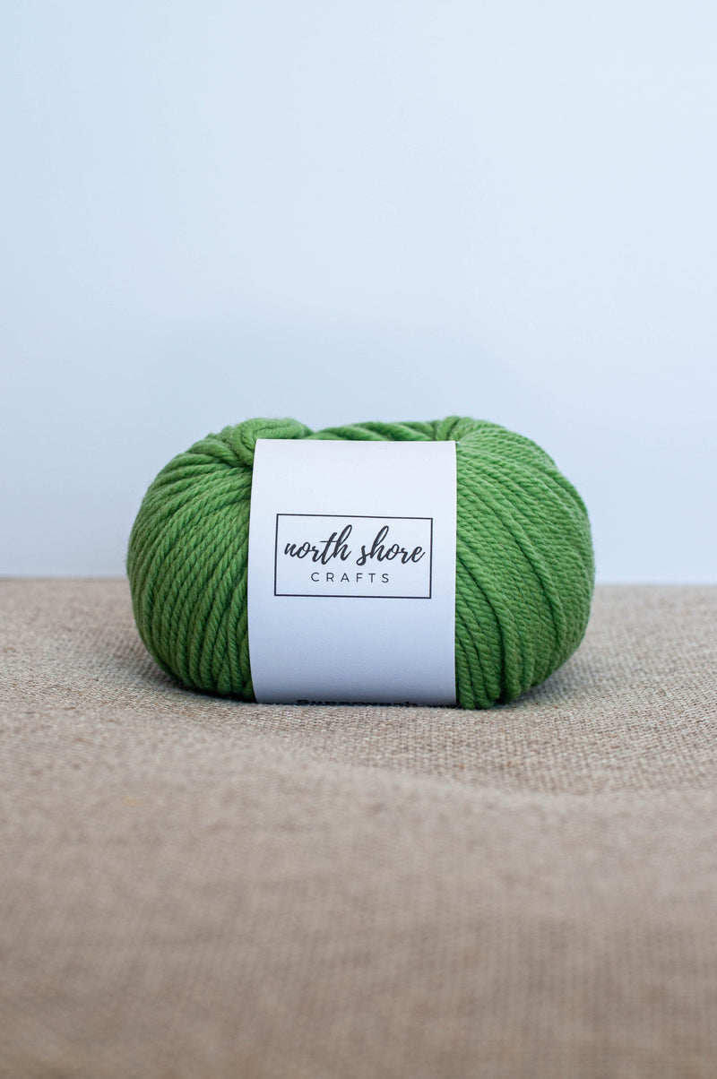 Superwash Wool Bulky Yarn Light Green