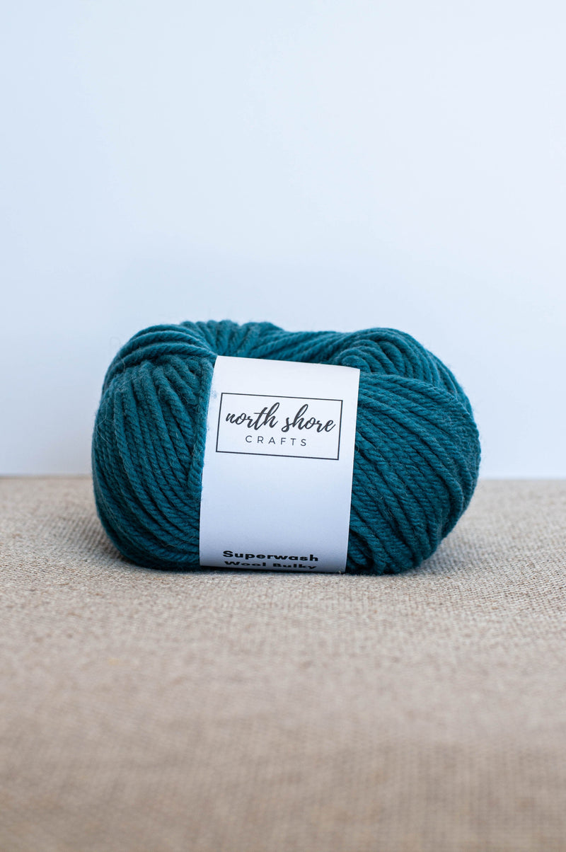 Superwash Wool Bulky Yarn Teal