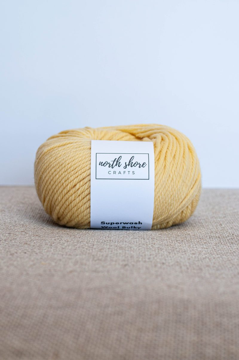 Superwash Wool Bulky Yarn Yellow
