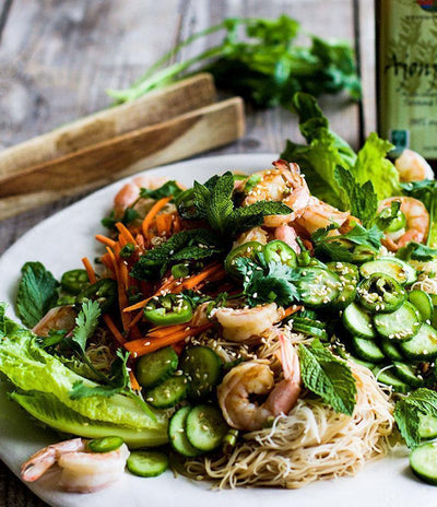 Shrimp Spring Roll Salads