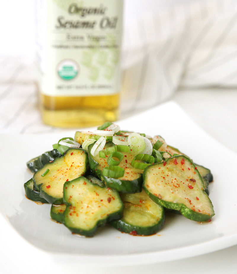 Korean Spicy Cucumber Banchan
