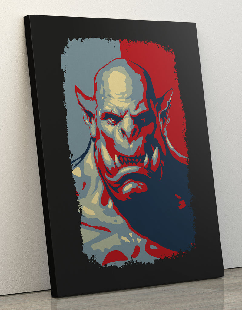 "Canvas Print 60x80cm ""Bad Orc"""