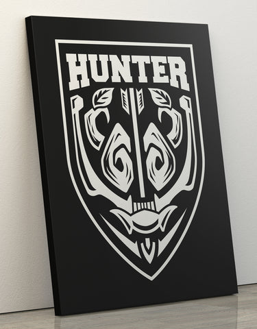 "Canvas Print 60x80cm ""Hunter"""