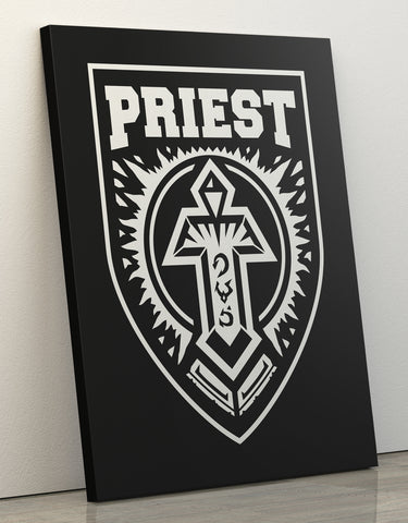 "Canvas Print 60x80cm ""Priest"""