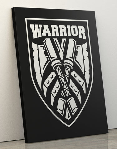 "Canvas Print 60x80cm ""Warrior"""