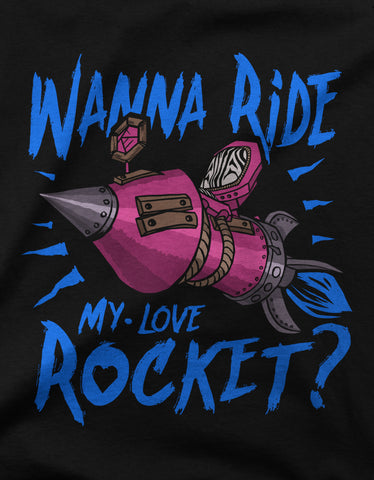 """Wanna ride my love rocket?"" Valentines Day Men's T-shirt"