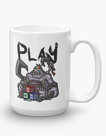 """Patchwerk"" Glossy Coffee Mug for MMORPG Fans"